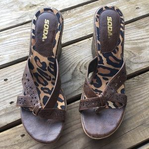 SODA Wedged Sandals size 11